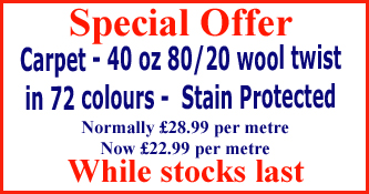 Special offer on Carpets in Basingstoke