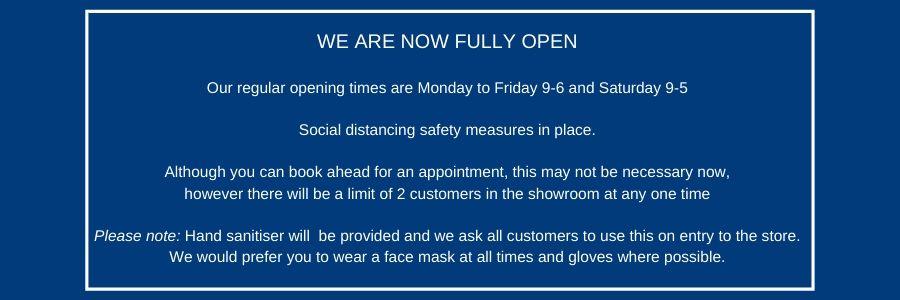 Carpet trade centre Basingstoke Covid opening hours